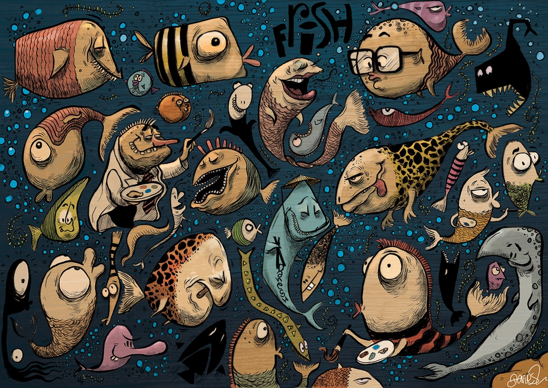 Fish Illustration Caricature