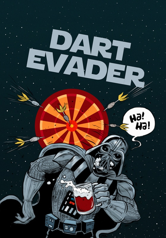 Star Wars Darth Vader Dart Evader Illustration Parody Humour
